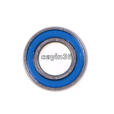 10PCS NEW Miniature ball Bearings with blue Plastic cover 5*10*4mm MR105-2RS UK 2