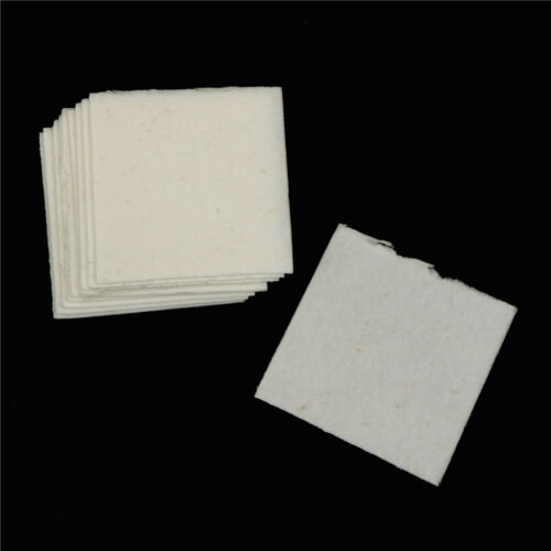 50 Blätter Keramikfaser Quadrat Mikrowelle Ofenglas Fusing Papier 80x80mm