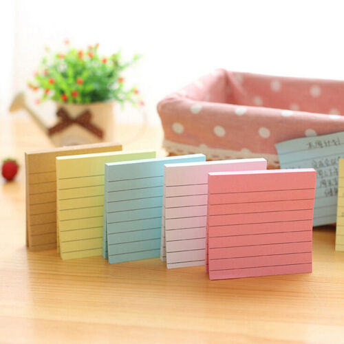 Sticky Notes Notebook Memo Pad Bookmark Paper Sticker Notepad Stationery Cl 2