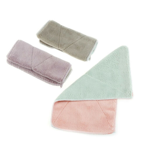 6pcs Anti-grease Dishcloth Duster Wash Cloth Hand Towel Cleaning Wiping Rags@J 8