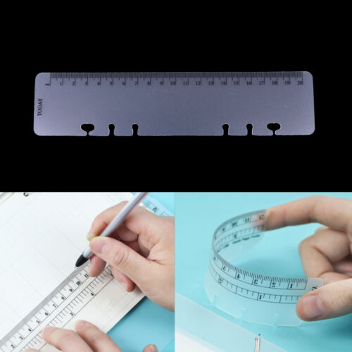 A5//A6//A7 Size 2pcs Page Marker Frosted Plastic Ruler Insert Refill Organiser VQ