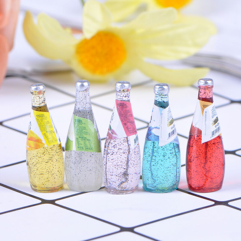 5Pcs 1/12 Miniature food mini fruit drink model for dollhouse kitchen toys 2