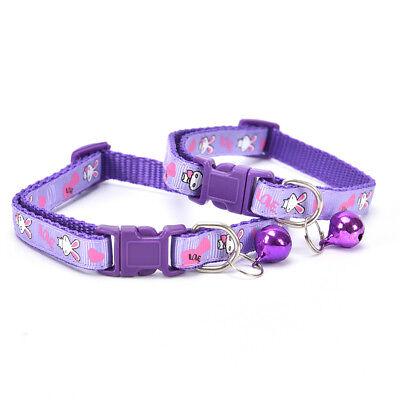 cute rabbit pattern pets cat dog puppy kitten adjustable pet collar with bell G$ 7