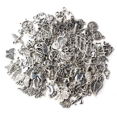 Wholesale Bulk Lots Tibetan Silver Mix Charm Pendants Jewelry DIY Finding 2