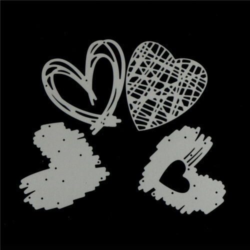 4Pcs Love Stripe Design Metal Cutting Dies For DIY Scrapbooking Album Paper TE 5