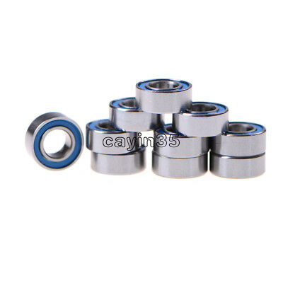 10PCS NEW Miniature ball Bearings with blue Plastic cover 5*10*4mm MR105-2RS UK 4