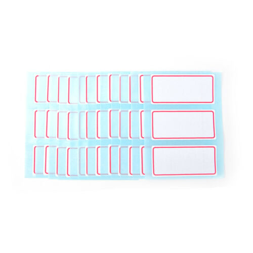 12sheet self adhesive label Blank note label Bar sticky writable name sticker G2