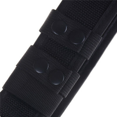 Black Heavy Duty Security Guard Police Utility Nylon Belt Waistband Supplies UK