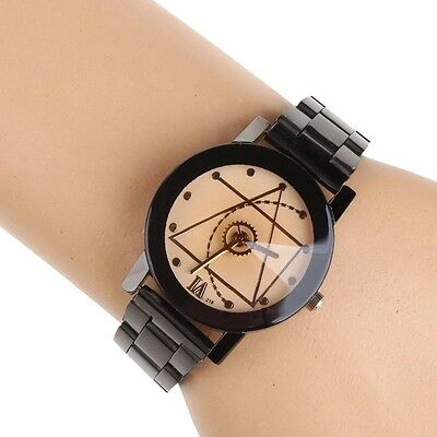 Fashion Luxury Men Women Compass Watch Stainless Steel Quartz Analog Wrist Watch 9