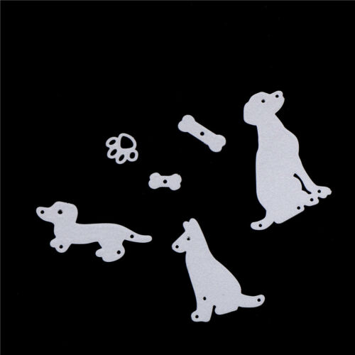 dog with bones scrapbook cuttings dies metal die cuts for diy scrapbook decor EL 4
