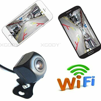 150°WiFi Wireless Car Rear View Cam Backup Reverse Camera For iPhone Android ios 5