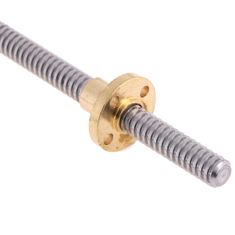 3D Printer T8x2 lead screw 100-500mm trapezoidal acme rod +anti-backlash ZX 7