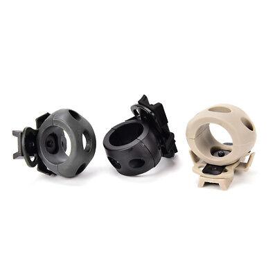 Tactical Helmet Flashlight Mount Clip Military Airsoft Flashlight Clamp AdaptTDO