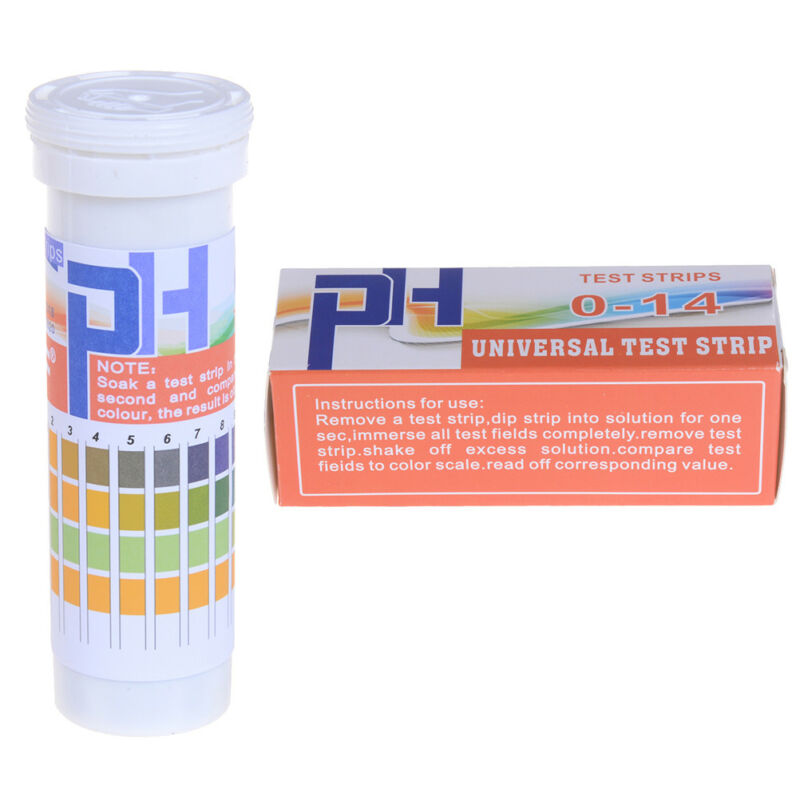 150 Strips bottled PH test strip 0-14 ph acidic alkaline indicator urine sal CH 3