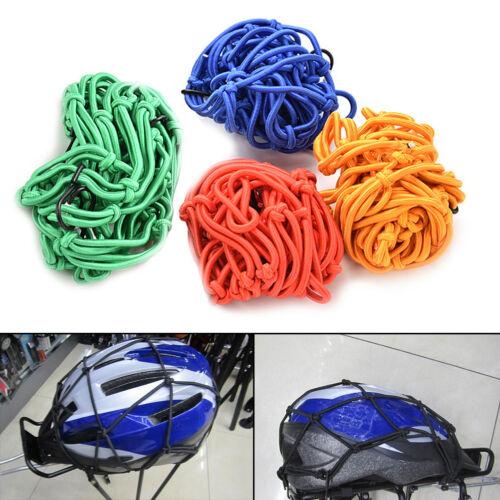 30x30cm Motorcycle Bike Bungee Tank Helmet Web Cords Mesh Cargo Net Hook Nw