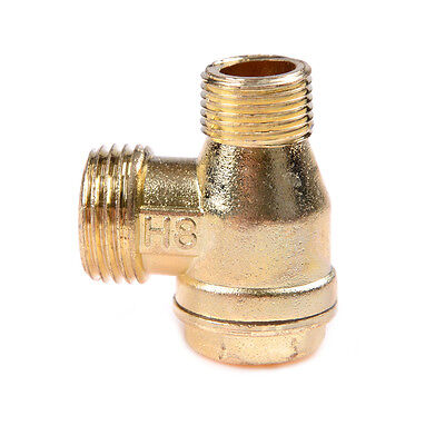 Compresor de aire 3Port latón macho roscado válvula de retención conector KY 4