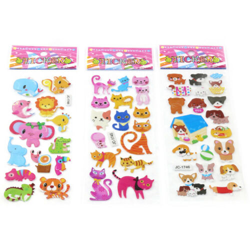 5sheets 3D Bubble Sticker Toys Children Kids Animal Classic Stickers Gift YEG 4