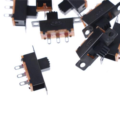 Black 20pcs 5V 0.3A SS12F32 Mini SPDT Slide Switch for Small DIY Power AD AS 4