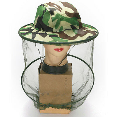 Travel Camping Kits Hats Mosquito Insect Hat Bug Mesh Head Net Face ProtectorPVC 2
