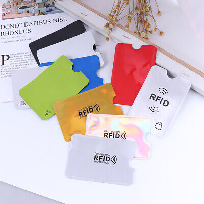 10Pcs Credit Card Protector Secure Sleeve Rfid Blocking Id Holder Foil Shield KW 8