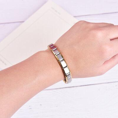 Couple Germanium Titanium Steel Elastic Bracelet Stretch Bracelet Bangle Fo H8C3