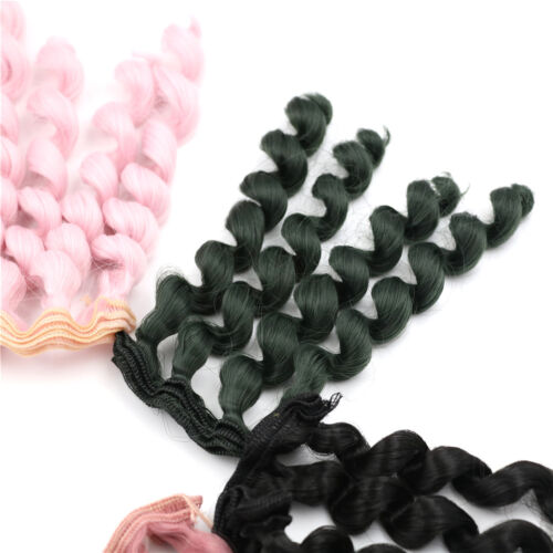 15cm x 100cmnatural color curly doll wigs hair DIY for 1/3 1/4 1/ UQPTH 5