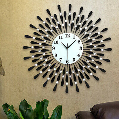60Cm Extra Large Metal Diamond Wall Clock Big Giant Open Face Round Hangings Diy 5
