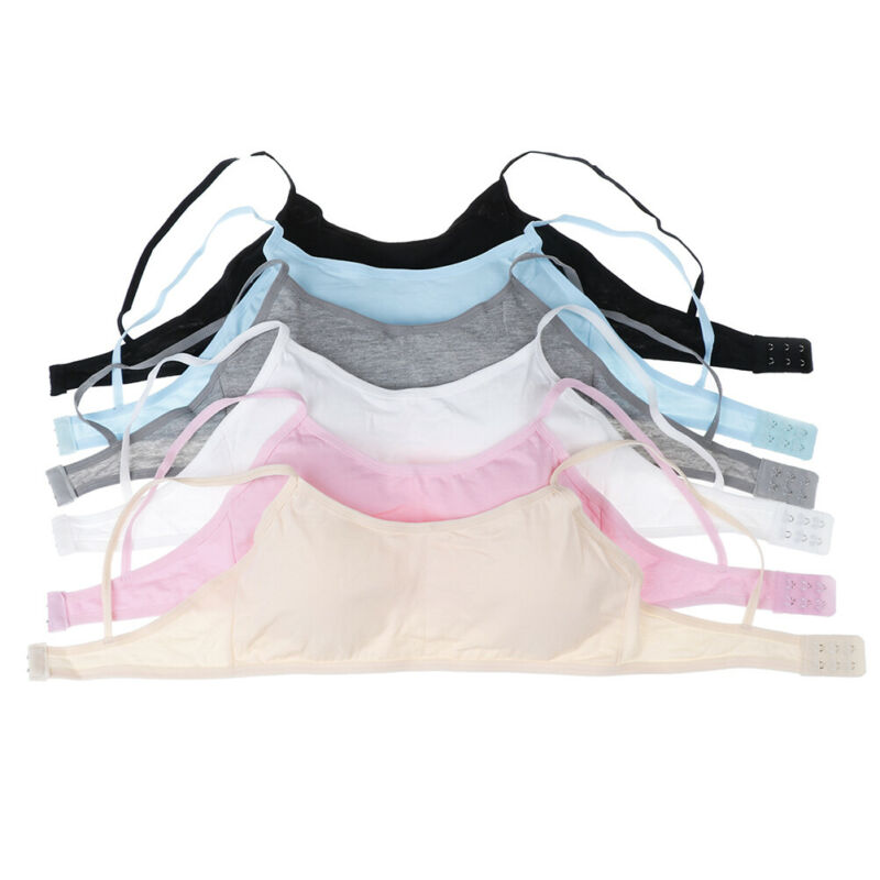 Teen girls underwear soft padded cotton bra young girls for yoga sports bra E&F 3