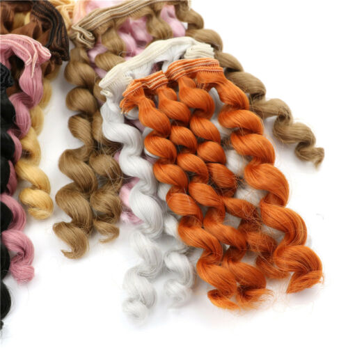 15cm x 100cmnatural color curly doll wigs hair DIY for 1/3 1/4 1/ UQPTH 7