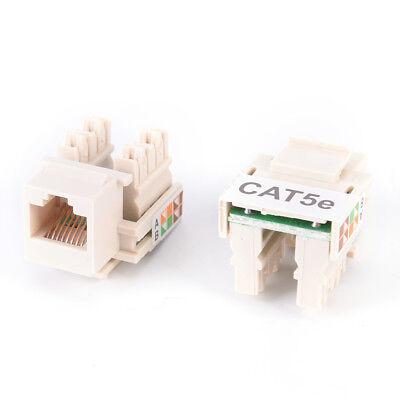 10x RJ45 CAT5e Keystone Jack Ethernet Netzwerkmodul Wandstecker New ZP