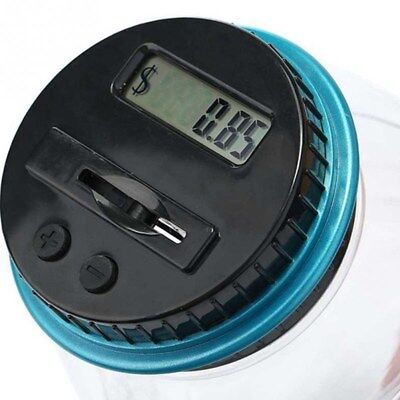 Coin Auto Counting MONEY JAR Cup Digital LCD Automatic Counter Piggy Bank Change 6