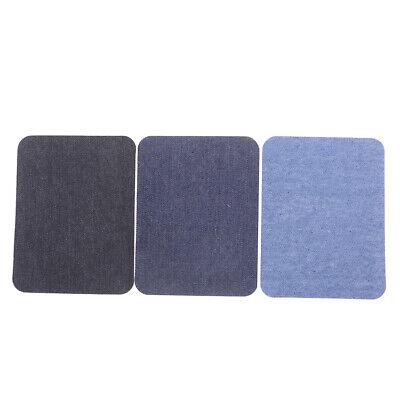 6X Assortiment De Réparation De Jeans En Coton 3Color Fer Sur Denim Patch CBGS 4