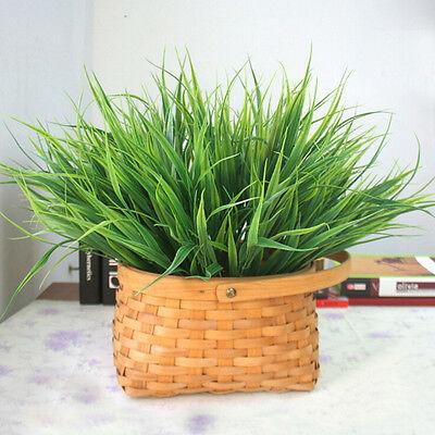 Künstliche Kunststoff Grünes Gras Plastikgrün Gras Pflanze//Blume//Büro 4H