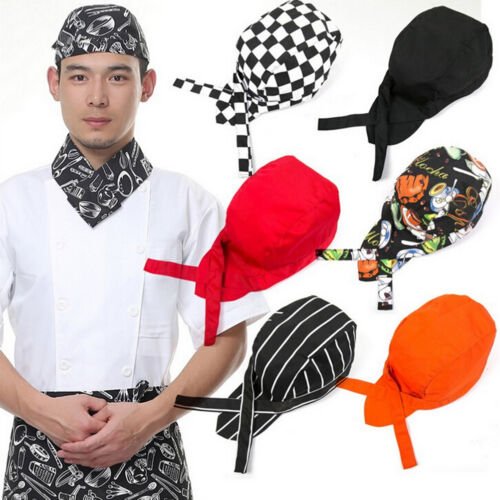 Colourful Pirate Chef Cap Skull Cap Professional Catering Various Chef Hat ;E
