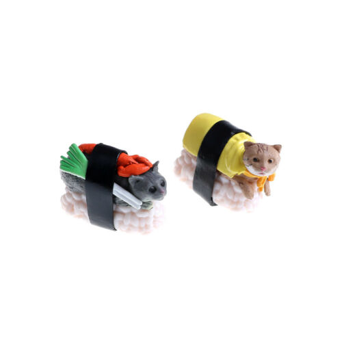 Cute Sushi Neko Cat Club Capsule Meow Mini Figure Kitty Collectio D/_N
