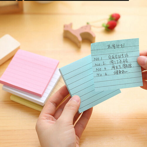 Sticky Notes Notebook Memo Pad Bookmark Paper Sticker Notepad Stationery Cl