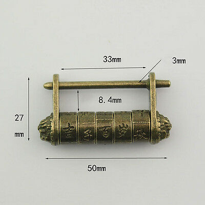 Parola chiave antica cinese antica Parola chiave lucchetto intagliato in ottoLO