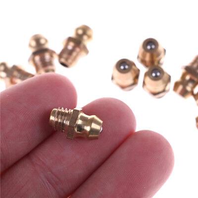 10PCS 1/4-28 Drive Type Taper Thread Straight Grease Zerk Nipple Fitting nP 6