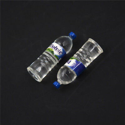 2pcs Bottle Water Drinking Miniature DollHouse 1:12 Toys Accessory Collection &T 5