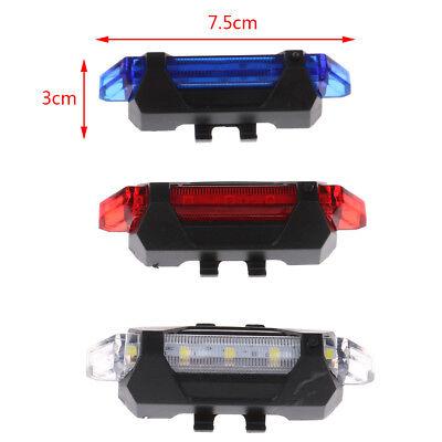 5 LED USB rechargeable vélo de queue avertissement de sécurité feu arrièreIH 7