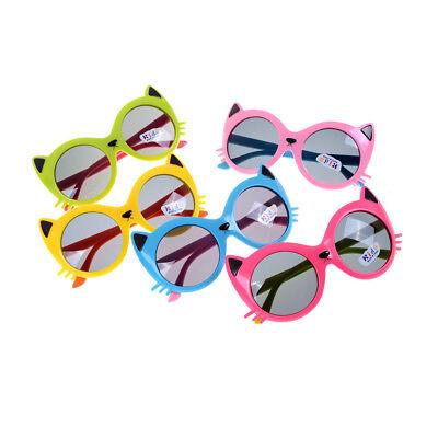 1 sur 6Livraison gratuite Filles garçon 5 couleurs Cartoon Cat anti UV400  lunettes de soleil enfant b PO cfb3b8af5fc5