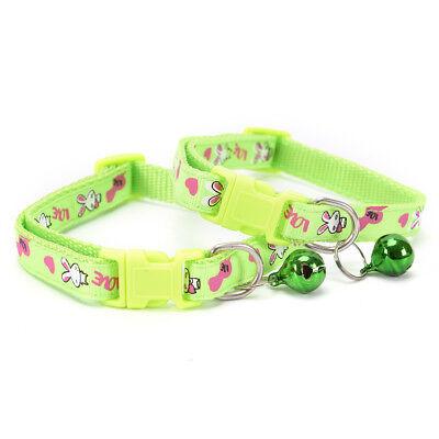 cute rabbit pattern pets cat dog puppy kitten adjustable pet collar with bell G$ 8