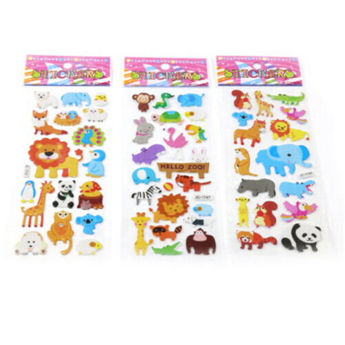 5sheets 3D Bubble Sticker Toys Children Kids Animal Classic Stickers Gift YEG 3