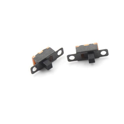 100X 3 Pin 2 Position Mini Size Wechsler Schiebeschalter auf Off PCB 5V 0.3 XJ 6