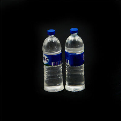 2pcs Bottle Water Drinking Miniature DollHouse 1:12 Toys Accessory Collection &T 3