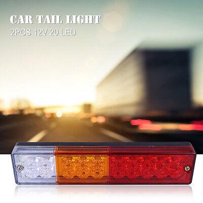 2X 20 LED Arrière LED Lumière Feux Arrête Indicateur Lampe Remorque Camion Van 5