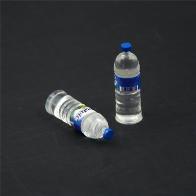 2pcs Bottle Water Drinking Miniature DollHouse 1:12 Toys Accessory Collection &T 6
