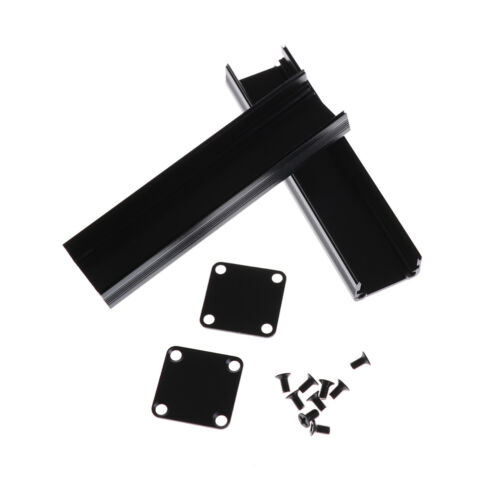 100*25*25mm Extruded PCB Aluminum Box Black Enclosure Electronic Project Cas Xj 6