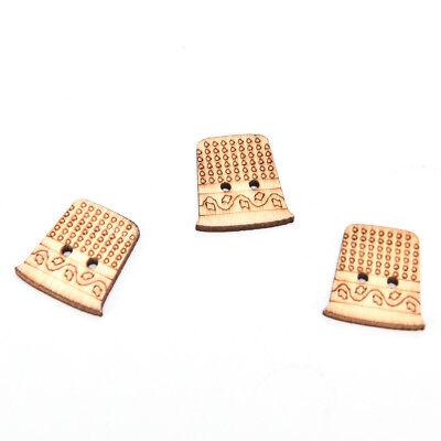 50pcs outil de couture en bois faits à la main boutons scrapbooking artisanat