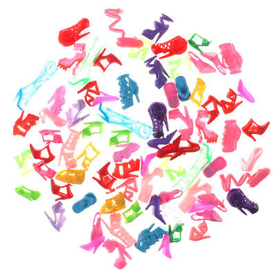 80 pieces of randomly different Barbie Doll high heels, boots, shoe accessories 6